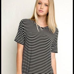 Black & white t shirt dress